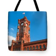 Rotes Rathaus The Town Hall Of Berlin Germany Tote Bag