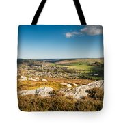 Rothbury Town From The Terraces Tote Bag