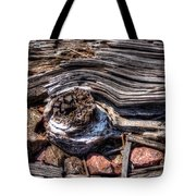 Rotted Railroad Tie Tote Bag