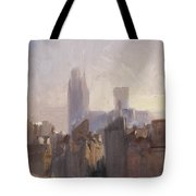 Rouen Cathedral Sunrise Tote Bag