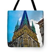 Rouen Church Steeple Tote Bag