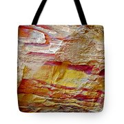 Rough And Red Rock In Petra-jordan  Tote Bag