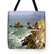 Rough Californian Shore Near San Francisco Ca Cliff House 2 Tote Bag