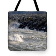 Rough Day On The Lake Tote Bag