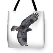 Rough-legged Hawk In Flight-signed-#4318 Tote Bag
