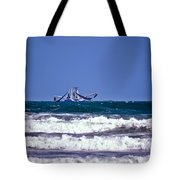 Rough Seas Shrimping Tote Bag