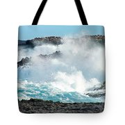 Rough Waves Offshore Whale Point Tote Bag