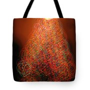 Round And Round The Christmas Tree Tote Bag