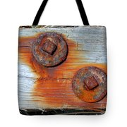 Round And Rusted Tote Bag