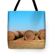 Round Bales Of Hay Tote Bag
