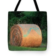 Round Hay Bale Tote Bag