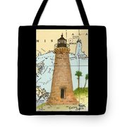 Round Island Lighthouse Ms Nautical Chart Map Art Tote Bag