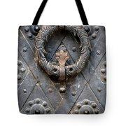 Round Metal Doorknob Tote Bag