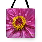 Round Pink Beauty Tote Bag