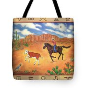 Round Up And Cattle Brands Tote Bag