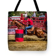 Rounding The Barrel Tote Bag