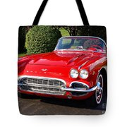 Route 66 - 1961 Corvette Tote Bag