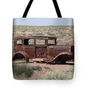 Route 66 - Abandoned Car Tote Bag