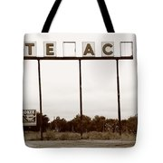 Route 66 - Abandoned Texaco Station Tote Bag