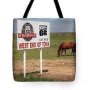 Route 66 - Adrian Texas Tote Bag