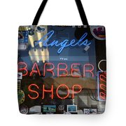 Route 66 - Angel's Barber Shop Tote Bag