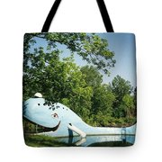 Route 66 Blue Whale Waterpark Tote Bag