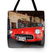 Route 66 Corvette Tote Bag