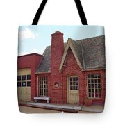 Route 66 - Cottage Style Gas Station Tote Bag