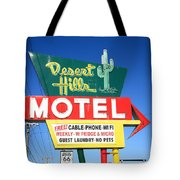 Route 66 - Desert Hills Motel Tote Bag