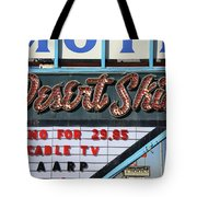 Route 66 - Desert Skies Motel Tote Bag