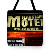 Route 66 Flagstaff Motel Tote Bag
