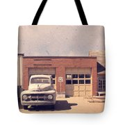 Route 66 Garage Tote Bag