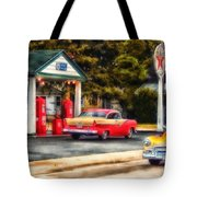 Route 66 Historic Texaco Gas Station Tote Bag