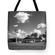 Route 66 - Midpoint Cafe Adrian Texas Tote Bag