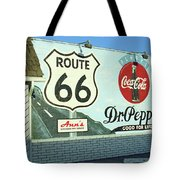 Route 66 - Mural With Shield Tote Bag