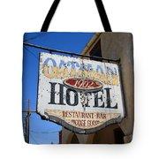 Route 66 - Oatman Hotel Tote Bag