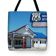 Route 66 Odell Il Gas Station Signage 01 Tote Bag