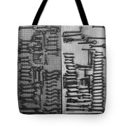 Route 66 Odell Il Gas Station Tools Black And White Tote Bag