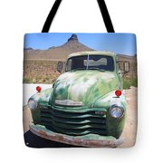 Route 66 - Old Green Chevy Tote Bag