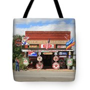 Route 66 - Sandhills Curiosity Shop Tote Bag