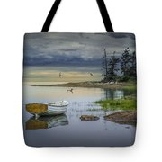 Row Boat By Mount Desert Island Tote Bag