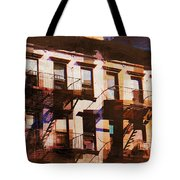 Row Houses - Old Buildings And Architecture Of New York City Tote Bag