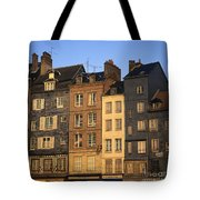 Row Of Houses. Honfleur Harbour. Calvados. Normandy. France. Europe Tote Bag