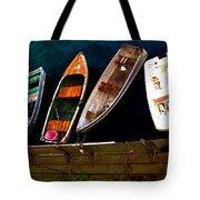 Row Of Rowboats  Tote Bag