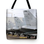 Row Of U.s. Marine Corps Fa-18 Hornet Tote Bag