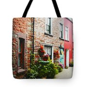 Row With Flowers Tote Bag