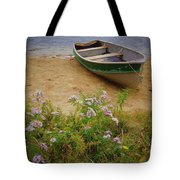 Rowboat And Asters Tote Bag
