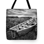 Rowboat At Prospect Point - Black And White Tote Bag
