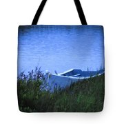 Rowboat In Grass Tote Bag