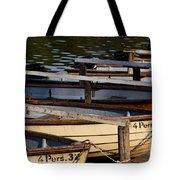 Rowboats At A Lake Tote Bag